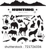 hand drawn hunting isolated... | Shutterstock .eps vector #721726336