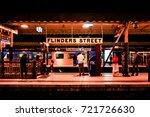 flinders street station ... | Shutterstock . vector #721726630
