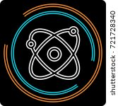 simple atom thin line icon.... | Shutterstock .eps vector #721728340