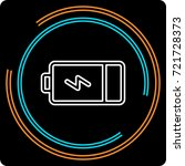 simple battery thin line icon.... | Shutterstock .eps vector #721728373