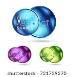 glass circle abstract web...   Shutterstock .eps vector #721729270