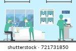 making laser eye surgery.... | Shutterstock .eps vector #721731850