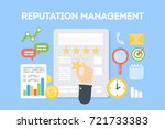 reputation management concept... | Shutterstock .eps vector #721733383