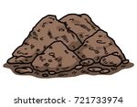 soil   cartoon vector and... | Shutterstock .eps vector #721733974