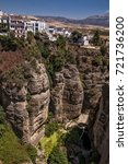 ronda is an unique spanish town ... | Shutterstock . vector #721736200