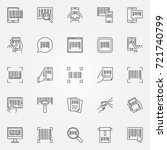 barcode icons set   vector... | Shutterstock .eps vector #721740799