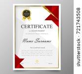 certificate premium template...   Shutterstock .eps vector #721743508