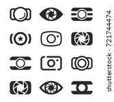 camera icons and photography... | Shutterstock .eps vector #721744474