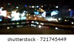 blurred photo bokeh in night... | Shutterstock . vector #721745449