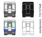 wagon  single icon in cartoon...   Shutterstock .eps vector #721747468