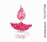 happy diwali. the festival of... | Shutterstock .eps vector #721747768