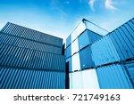 harbor freight blue toned... | Shutterstock . vector #721749163