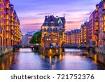 the warehouse district ... | Shutterstock . vector #721752376