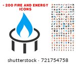 burner nozzle flame icon with... | Shutterstock .eps vector #721754758