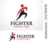 fighter logo template design...   Shutterstock .eps vector #721755478