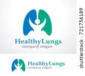 healthy lung logo template...   Shutterstock .eps vector #721756189