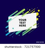 modern text box with colorful... | Shutterstock .eps vector #721757500