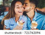 happy couple having date and... | Shutterstock . vector #721762096