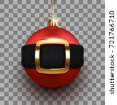 3d christmas ball with santa's... | Shutterstock .eps vector #721766710