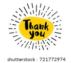 thank you sketch quote logo.... | Shutterstock .eps vector #721772974