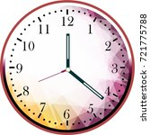 creative clock face design. | Shutterstock . vector #721775788