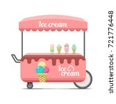 ice cream street food cart.... | Shutterstock .eps vector #721776448