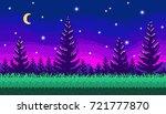 pixel art seamless background.... | Shutterstock .eps vector #721777870
