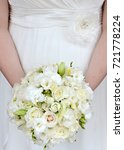 close up of bride holding... | Shutterstock . vector #721778224