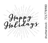 happy holidays vector text icon ... | Shutterstock .eps vector #721778980