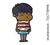 cartoon curious boy   Shutterstock .eps vector #721778998