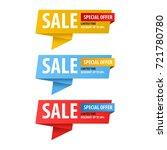 special offer sale banner for... | Shutterstock .eps vector #721780780