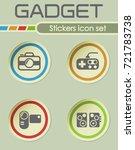 gadget stickers icon set | Shutterstock .eps vector #721783738