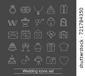 set of outline wedding icon.... | Shutterstock .eps vector #721784350