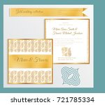 luxury wedding invitation... | Shutterstock .eps vector #721785334