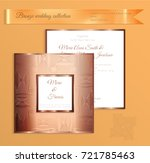 luxury bronze shiny wedding... | Shutterstock .eps vector #721785463