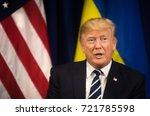 new york  usa   sep 21  2017 ... | Shutterstock . vector #721785598