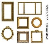 set of gilded  gold   frames... | Shutterstock . vector #721786828
