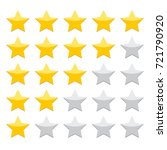stars rating isolated on white... | Shutterstock .eps vector #721790920