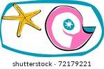 retro tropical sealife snail... | Shutterstock .eps vector #72179221