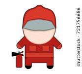profession character fireman.... | Shutterstock .eps vector #721796686