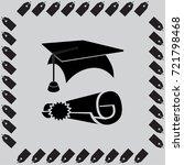 education license vector icon | Shutterstock .eps vector #721798468