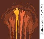 halloween zombie hand. vector...   Shutterstock .eps vector #721798753