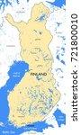 finland map   vector detailed... | Shutterstock .eps vector #721800010