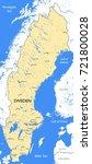 sweden map   vector detailed... | Shutterstock .eps vector #721800028
