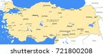 turkey map   vector detailed... | Shutterstock .eps vector #721800208