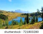 Rock Isle lake in Sunshine Meadows, Banff National Park, AB