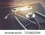 health insurance claim form... | Shutterstock . vector #721803334