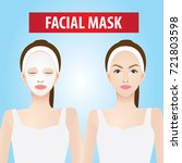 facial mask vector illustration | Shutterstock .eps vector #721803598