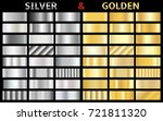 collection of silver and golden ... | Shutterstock .eps vector #721811320