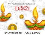 illustration of burning diya on ... | Shutterstock .eps vector #721813909